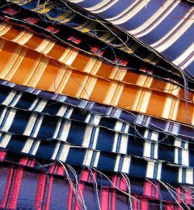 Charvet favours vibrant, often iridescent fabrics for its ties.