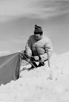 Explorer Lionel Terray wearing Moncler in Alaska, 1964.