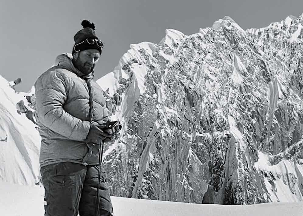 Lionel Terray wearing Moncler in Alaska, 1964.