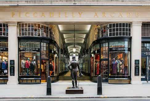 The New & Lingwood store on Jermyn Street.