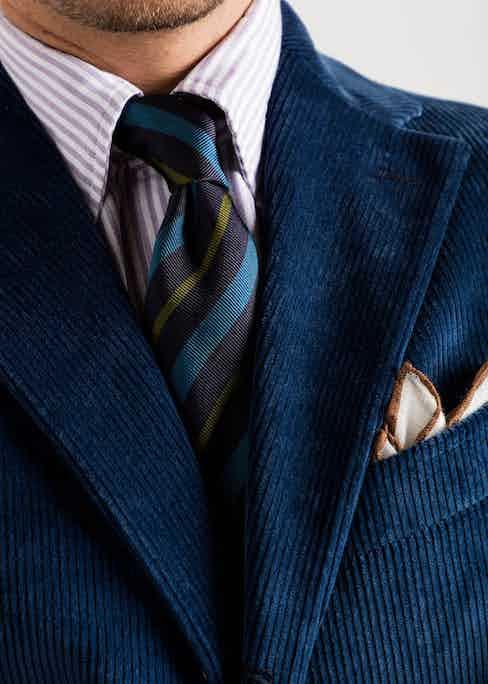 Drake's for The Rake blazer in blue cotton corduroy. Photograph by James Munro.