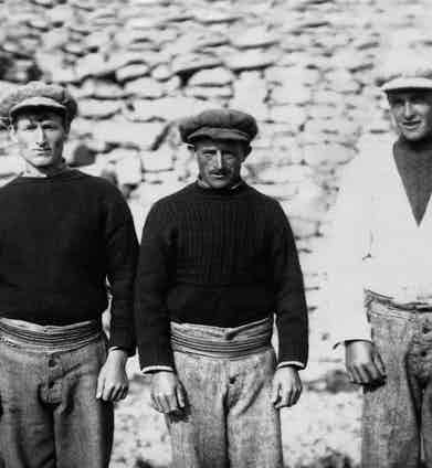 Irish fishermen from the Aran Islands, circa 1910.