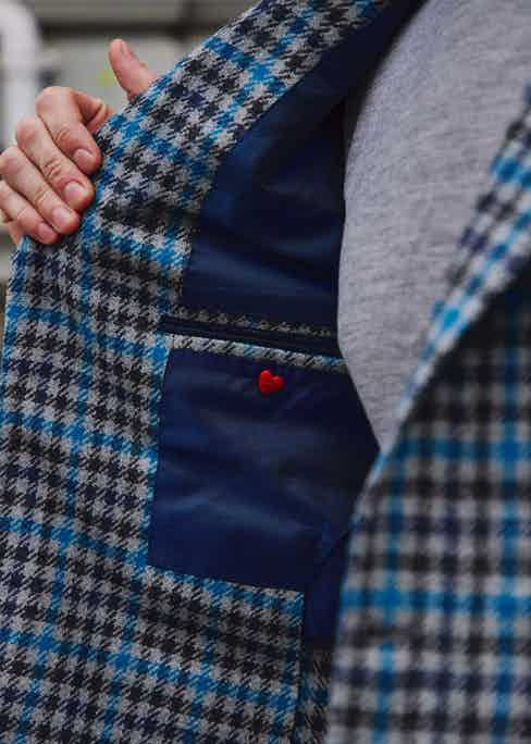 A thoughtful, Neapolitan touch with a heart sewn on to the inside chest pocket. Photography by James Munro.