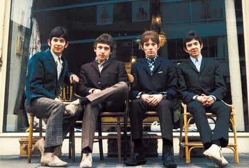 The Small Faces wear light suede chukkas in a promotional photograph for the band, with high-buttoning single-breasted blazers and haircuts that didn't age as well as their footwear.