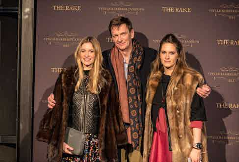 Great grandson of cobbler Ludwig Reiter, Till Reiter, with his two daughters.