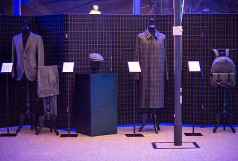 The VBC x The Rake collection on display at La Loggia in Florence.