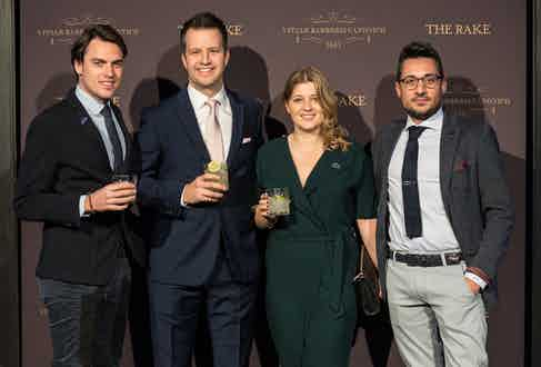 International Marketing Director for Patrón Spirits Company Matthew Sykes and Joy Barker (middle) with guests.