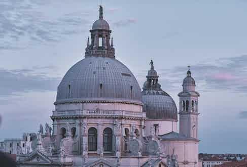 The Santa Maria della Salute in Venice, Italy.