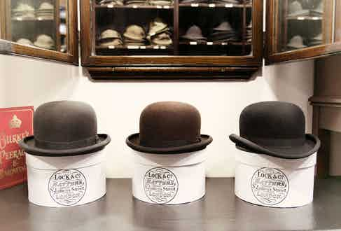 Lock & Co. Hatters is one of the oldest milliners in London, and Churchill frequented the store for Homburgs and bowlers.