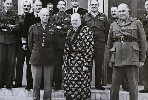 Churchill was disinclined to follow traditional rules of dress, regularly wearing a dressing gown in public and siren suits for comfort.
