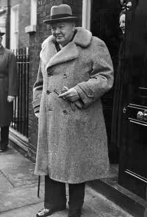 Churchill's teddy bear coat is among one of his most iconic pieces of outerwear.