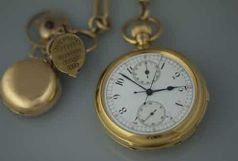Winston Churchill's Breguet Pocket Watch No. 765, which was recreated and worn by Gary Oldman for Darkest Hour, 2018.