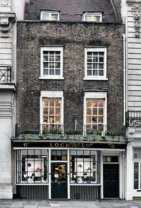 Lock & Co.'s store on St James's St in London.