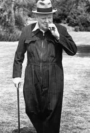 Churchill undoubtedly made the siren suit 'cool', having it made in chalkstripes and various velvets.