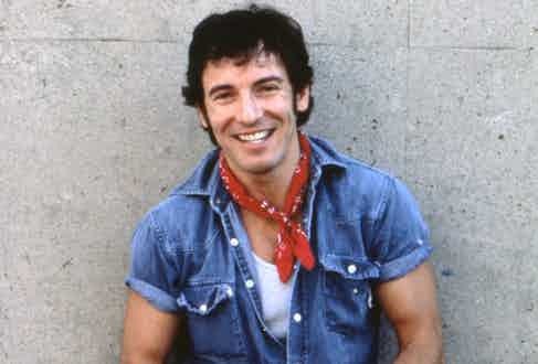 Bruce Springsteen poses for a portrait before performing at the Philadelphia Spectrum on September 19 1984. (Photo by David Gahr/Getty Images)