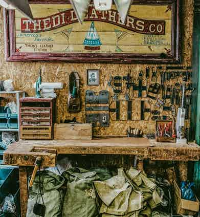 The atelier specialises in crafting vegetable-tanned leather and military canvas.