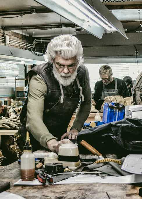 Theodoros Pampoukas, Co-Founder of Thedi Leathers.