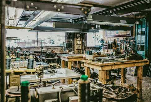 The Thedi Leathers workshop in Thessaloniki.