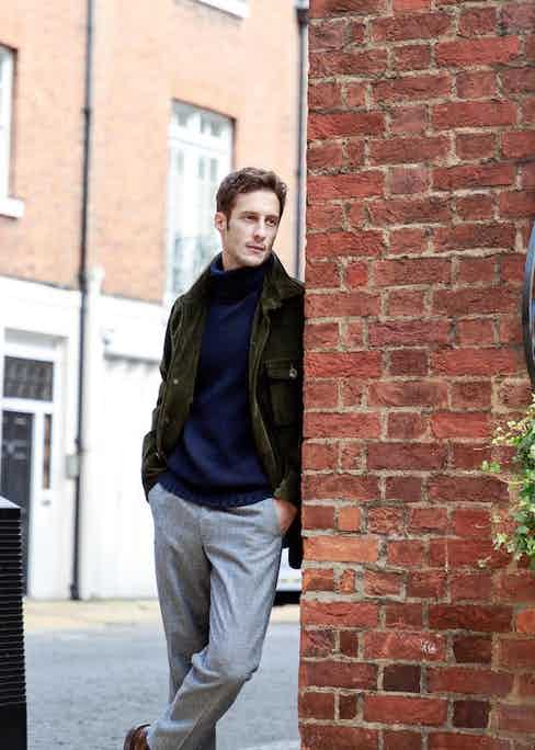 Anderson & Sheppard's navy merino knit is an ideal layer. Photo by James Munro.