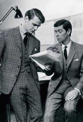 A three-piece by tailor Hector Powe in 1964, cut in Woolmark cloth.