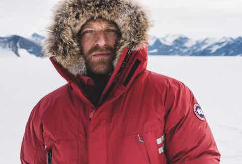 Ben decided the Mountaineer Jacket with a coyote-fur hood trim was an ideal choice because it offered breathable, down-filled warmth without the extra weight.