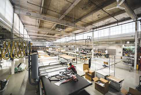 The Canada Goose factory floor in Canada.