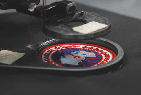 Canada Goose's logo, carefully stitched onto each of their down jackets.