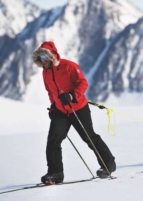 Polar explorer and brand ambassador Ben Saunders relied heavily on his parka during his trans-Antarctic solo expedition in 2017.