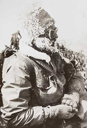 Famous mountaineer Eric Shipton was part of many attempts on Everest in the 1930s. He would frequently wear garments made from Grenfell Cloth.
