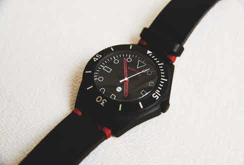 When people have their timepieces customised, they receive a Bamford Mayfair watch to temporarily replace it.