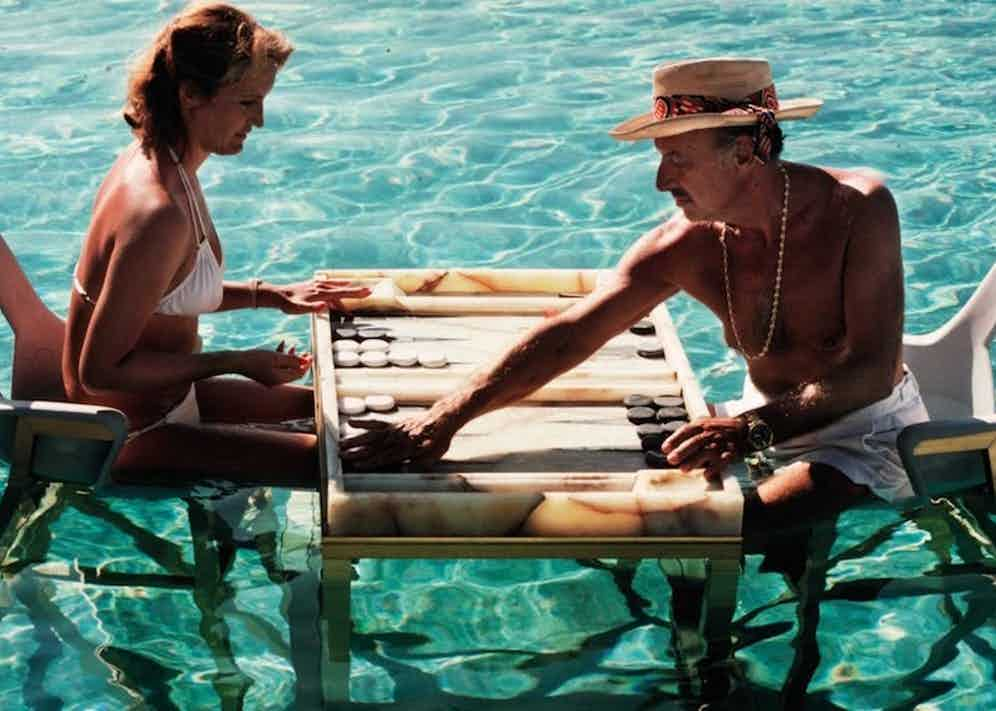 Slim Aarons' iconic photograph titled 'Keep Your Cool', shot in Acapulco.