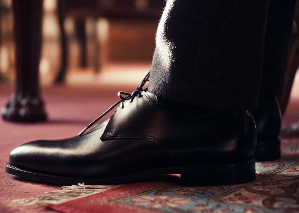 Bodileys' Derby features three eyelets and a Dainite rubber sole. Photograph by Kim Lang.