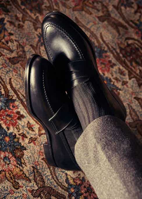 Bodileys' creates classic styles such as penny loafers, Oxfords and chukka boots. Photograph by Kim Lang.