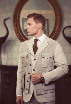 A suede tailored waistcoat or soft padded gilet can provide an extra layer without overpowering your outfit.