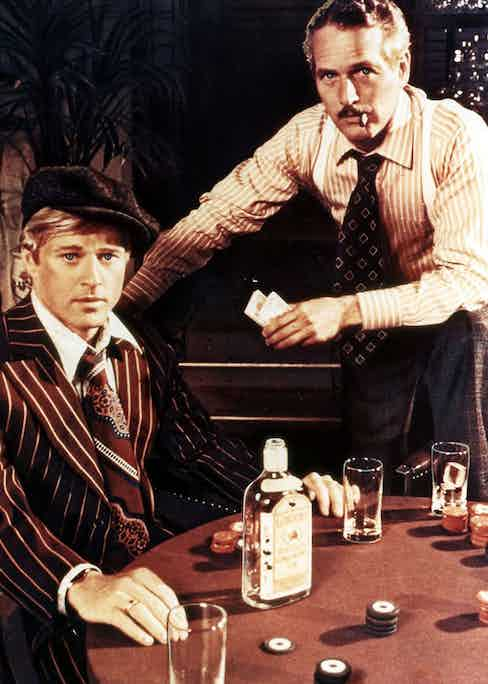 Robert Redford and Paul Newman both wore braces in The Sting, 1973.