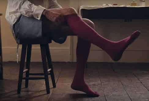 Most of Day-Lewis' wardrobe in the film is British-made, but his socks are by Italian hosier Gammarelli.