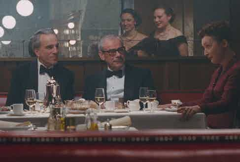 Daniel Day-Lewis asked George Glasgow Sr (centre) to feature in the film, here shot in Milk & Honey in New York.