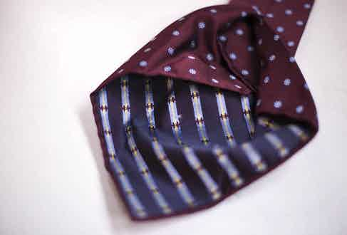An untipped seven-fold tie by Calabrese 1924. Photograph by Stéphane Butticé.