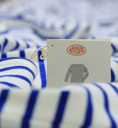 Armor Lux isn't restricted to just producing Breton stripe shirts –it also creates coats, hats, scarves and slippers.