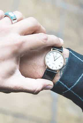 """""""This vintage Rolex Cellini in yellow- gold was owned by one of my father's best friends who gave it to him when I was a kid,"""" Sergio says. """"My father  died when I was 16, so for my 18th  birthday my mother — who had bought me a new Rolex Submariner — gave me the Cellini as well, saying, 'and this one's from your dad'."""""""