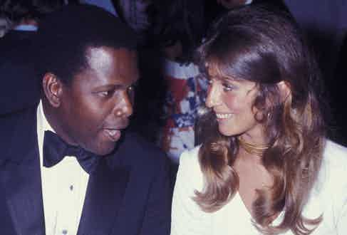 Sidney Poitier with his wife, Joanna Shimkus, in New York.