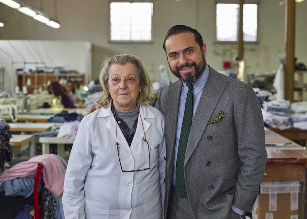 Salvatore and his mother Maria, who started training as a shirtmaker aged nine.