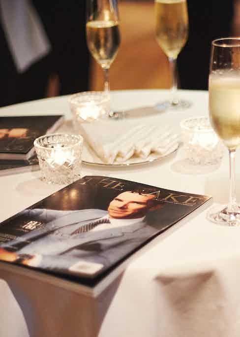 Guests enjoyed dinner at The Connaught ahead of Sciamat's trunk show at Mark's Club.