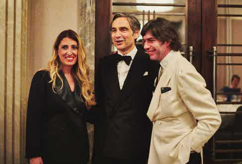 Silvana and Valentino Ricci with a guest.