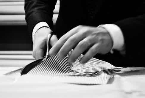 Luca's shirts and casual polos are created in small-batches.