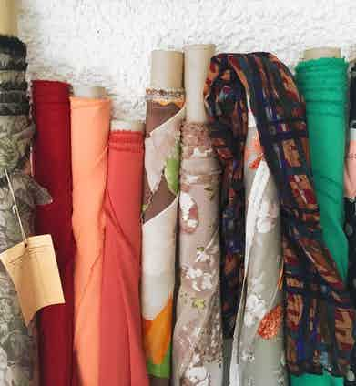 A selection of fine silks, all hand-printed in Como, Italy.