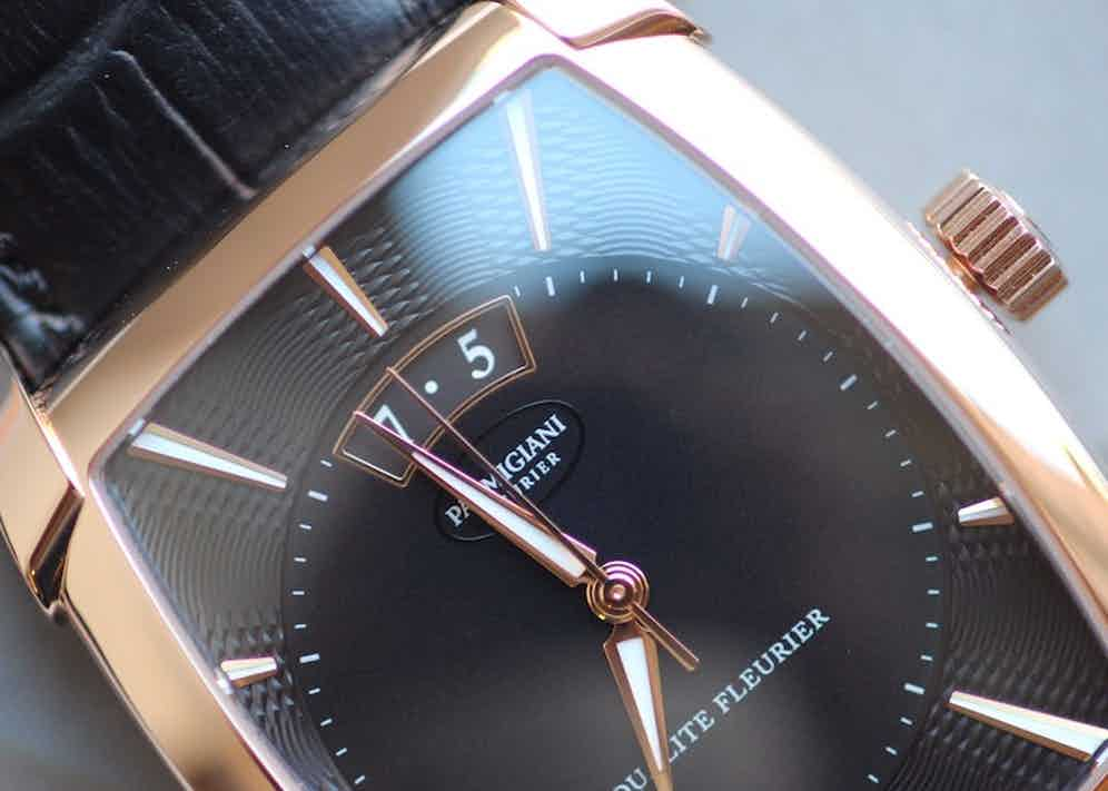 """Each piece is numbered and has """"QUALITÉ FLEURIER"""" engraved on the back."""