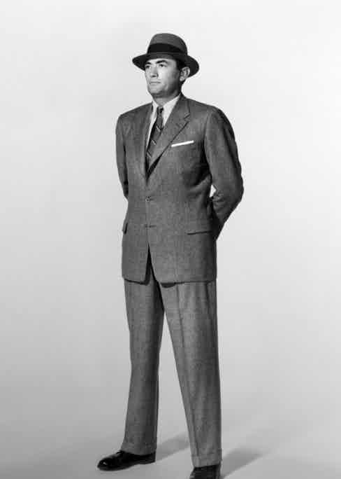 Gregory Peck himself was a tailoring enthusiast, making 160 orders through Savile Row tailors Huntsman during his time in London.