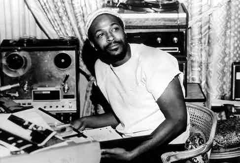 Recording whilst wearing one of his signature beanies, circa 1970s. Photograph by Gems/Redferns.