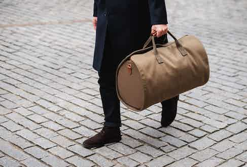 The Bennett Winch Suit Carrier Holdall - where form meets functionality for the frequent and discerning traveller.